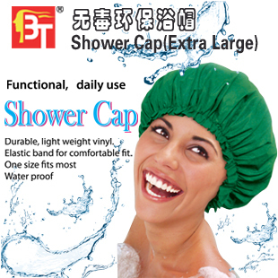 Waterproof Shower Cap Beauty Town Beauty Care Accessories Shower Caps Hotel Shower Hat 8Colors Bath Hats(China (Mainland))