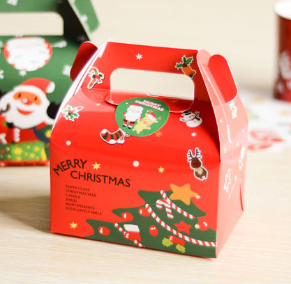 Red Christmas gift boxes, christmas decoration, holiday ...