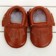 Fashion Baby Flats Tassel Soft Sole Cow Leather Shoes Infant Boy Girl Flats Toddler Moccasin 17Mar20(China (Mainland))