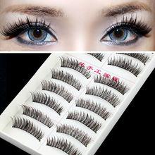 Very Beautiful Eyelashes 10 Pairs/Lot Winged Beauty Supplies Eyelashes Individual False Eyelashes NOT Include Glue For Lashes(China (Mainland))