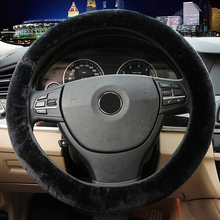 AUTO 1PC High Quality Soft Warm Wool Plush Winter Car Steering Wheel Cover Universal Auto Supplies Car styling Accessories Au 12