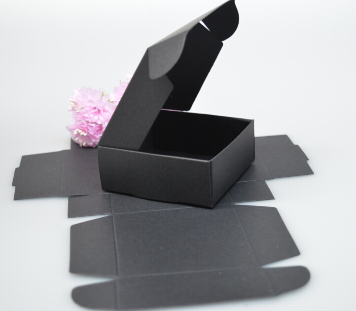 8*6*2.2cm black foldable paper box.black paper gift boxes/craft paper box(China (Mainland))