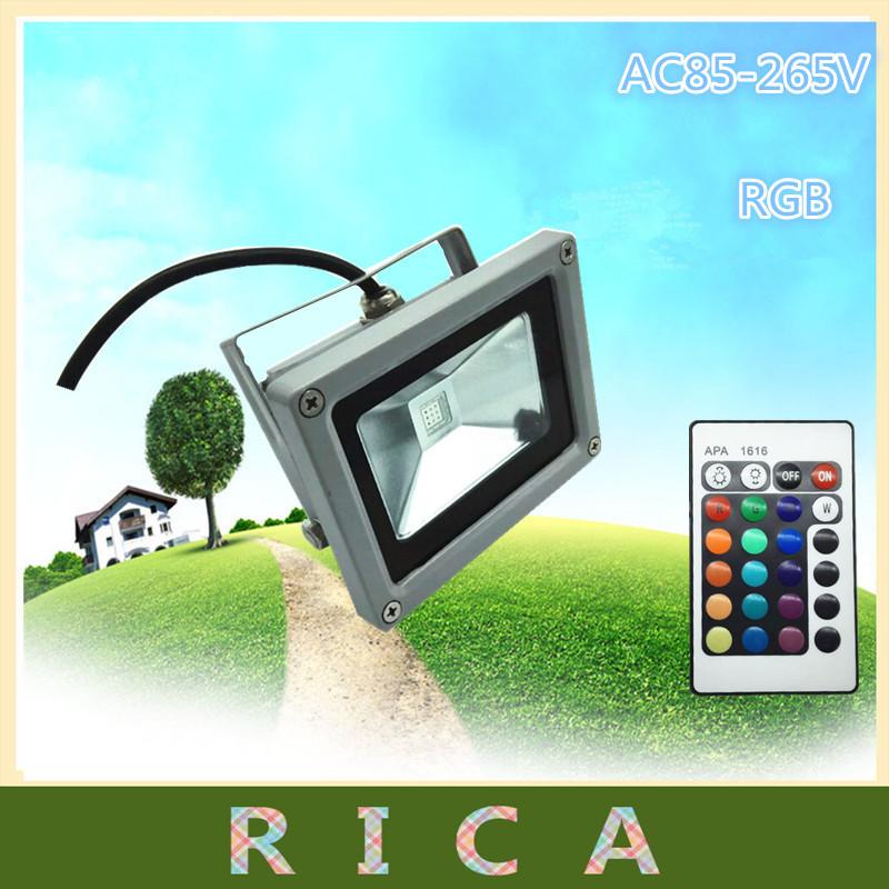 factory wholesale +free shipping outdoor RGB led flood light 10W floodlight, high power led flood light ,10w rgb power led(China (Mainland))