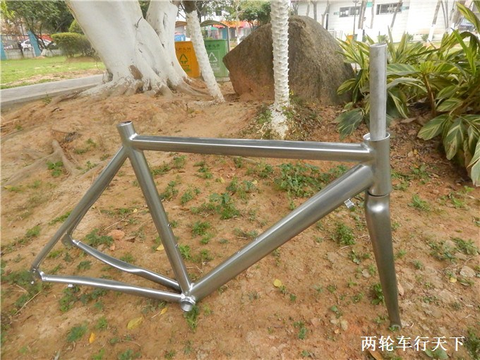 Advanced road bike frame+ fork aluminum alloy titanium scale-free vintage 700c 52cm ultra-light bicycle frame bike parts(China (Mainland))