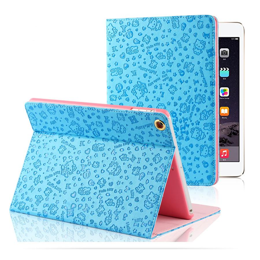 Wholesale Discount Cartoon Cover for Apple iPad air 1 Cute Small Cat Tablet Case Autosleep PU Leather stand cover for iPad 5(China (Mainland))