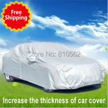 Increase the thickness of Car covers car hood for Mitsubishi HYUNDAI Tiguan RIO LADA Outlander Volkswagen resist snow car cover(China (Mainland))