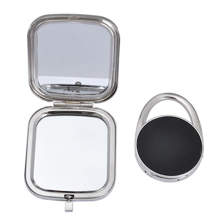 Kingston espelho criativo dobrável portátil transportar – desktop face saco fivela de diamantes gancho é presente do dia do professor