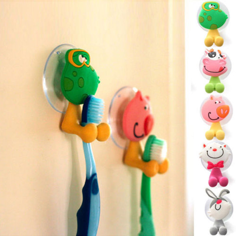 Animal Cartoon Suction Cup Toothbrush Toothpaste Holder Rack Wall Sucker(China (Mainland))