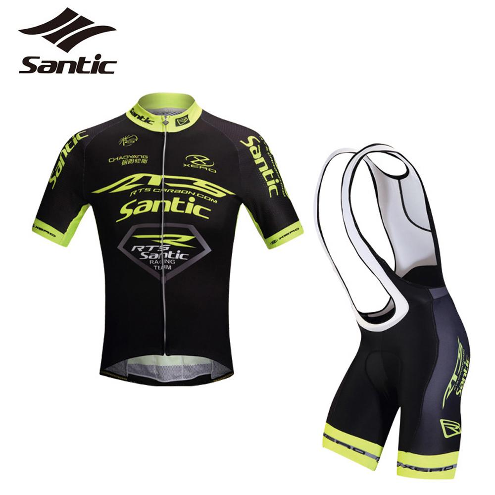 Santic RTS Team Men Cycling Jersey&amp;4D Pad Triathlon Bibs Breathable&amp;Elastic MTB Road Downhill Bike Clothing Kits Ropa Ciclismo<br><br>Aliexpress