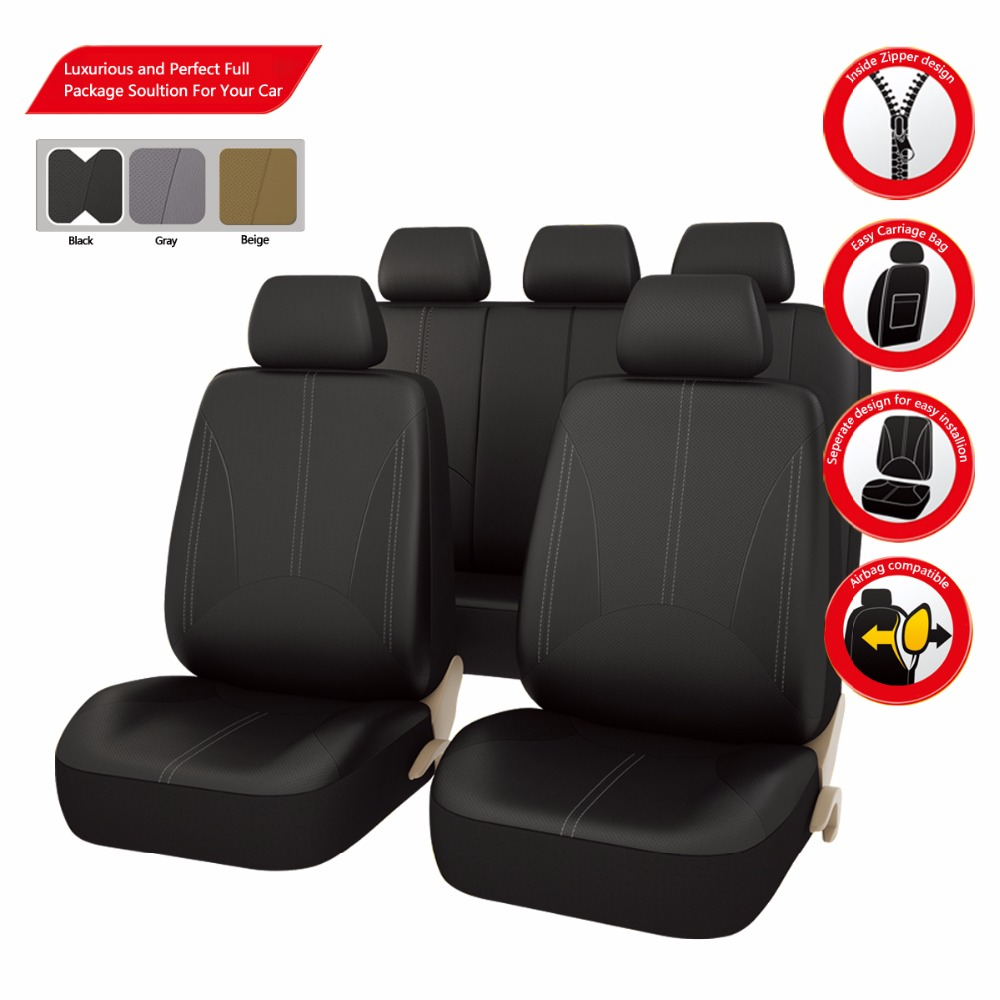 Car-pass Hot Selling Pu Leather Auto Car Seat Covers Universal Car Interior Accessories Black/Gray/Beige Seat Covers(China (Mainland))