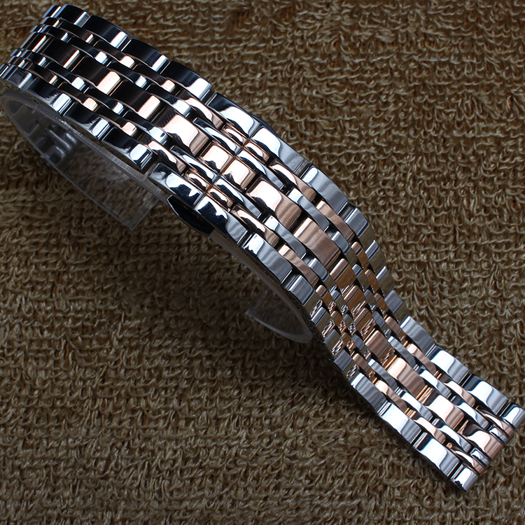 New Arrival Replacement Watchbands straps14mm 16mm 18mm  20mm 22mmStainless steel metal watch band Silver with rosegold fashion<br><br>Aliexpress