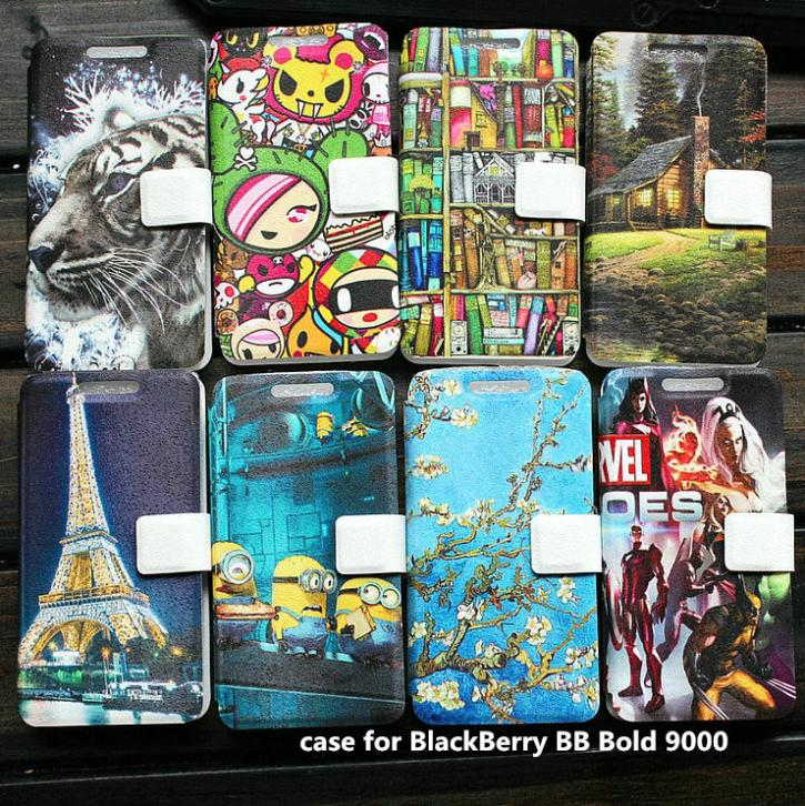 PU leather case for BlackBerry BB Bold 9000 case cover(China (Mainland))