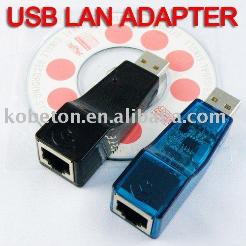 2015 2pcs USB Ethernet RJ45 Adaptor Network Lan Card Hot Selling Ethernet External Lan Card Adapter 10/100 Mbps for Laptop PC(China (Mainland))