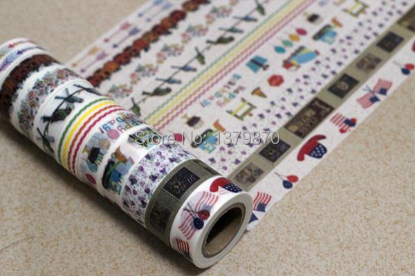 150pcs custom logo Japanese Rice Masking Washi Tape Wholesale free shipping(China (Mainland))
