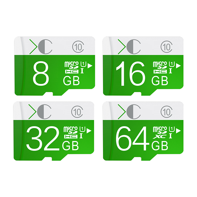 XC green micro sd card class 10 64GB 32GB 16GB 8GB 4GB SDHC SDXC Memory card Transflash TF card for Smartphonefree shipping(China (Mainland))