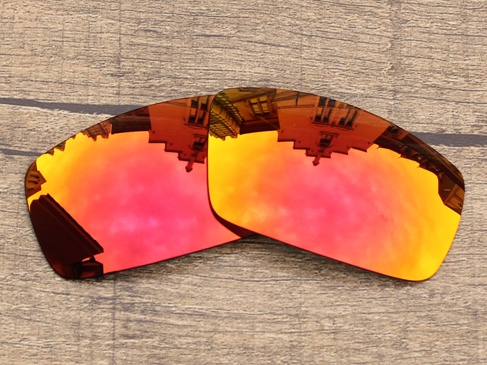 Polycarbonate Fire Red Mirror Replacement Lenses For Canteen 2006 Sunglasses Frame 100 UVA UVB Protection