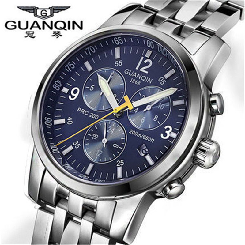 NEW GUANQIN relogio masculino fashion Mechanical watches men luxury brand waterproof men full steel wristwatches mens watches<br><br>Aliexpress