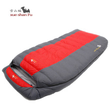 High quality ultralarge two person 2200g/2500g/2800g/3000g duck down filling comfortable camping sleeping bag