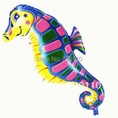 Hot sales ! 5 Cartoon helium balloons children's toys , hippocampus 88X46CM - Happy Balloon Family store
