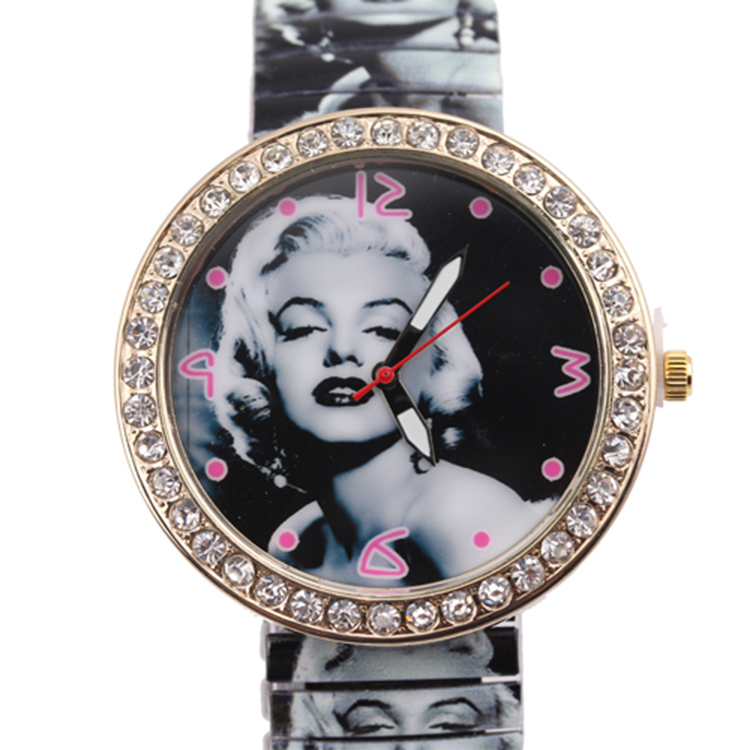 great women buy direct from china rhinestone women watch spring shrinkage spring watch(China (Mainland))