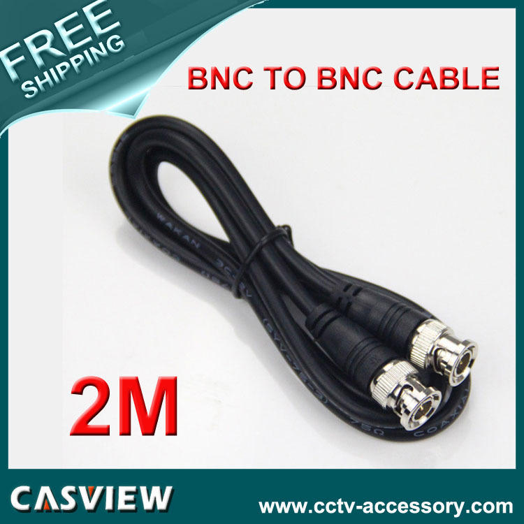 Free shipping 1PCS 2M(6ft) RG59 Coaxial extend Cable BNC male to BNC male for CCTV Camera 75 ohm Coaxial Cable(China (Mainland))
