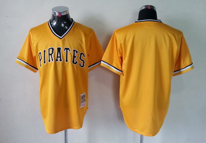 Lower Price Mens Pittsburgh Pirates Jersey Blank Yellow Baseball Jersey,embroidered Logo,accept retail mixed order