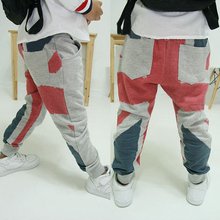 New 1-6Y Casual Sports Harem Grey Pants Kids Baby Boy Cotton Long Pants Trousers (China (Mainland))
