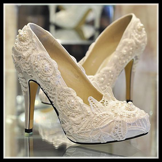 Ivory Lace Sandals Ivory Lace Wedding Shoes
