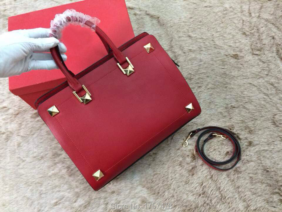 Free Shipping Top Quality Fashion Women's Handbag Lady Tote Shoulder Brand Bags rivets bag