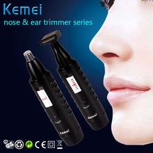 Kemei 2 in 1 Electric Nose Ear Hair Trimmer for Men and Women Rechargable Washable Beard