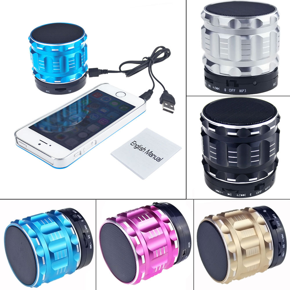 2015 New Portable Mini Bluetooth Speakers Metal Steel Wireless Smart Handfree Speaker With FM Radio Support TF/SD Card(China (Mainland))