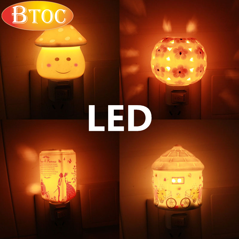 $3 clearance sale LED projection night lights kids Gift Baby bedroom NIght lamp baby nightlight kids night lamp for kids EU plug(China (Mainland))
