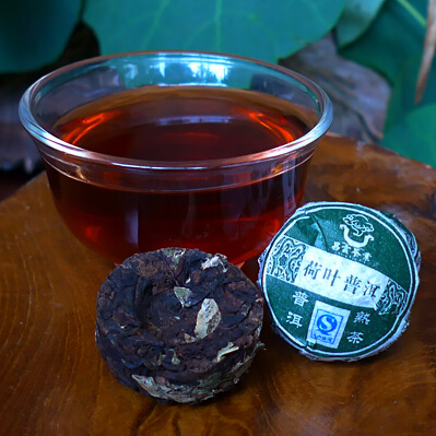 Chinese Mini Yunnan Puer Tea Lotus leaf Tea Flavor Pu er Puerh Tea Green Slimming Coffee