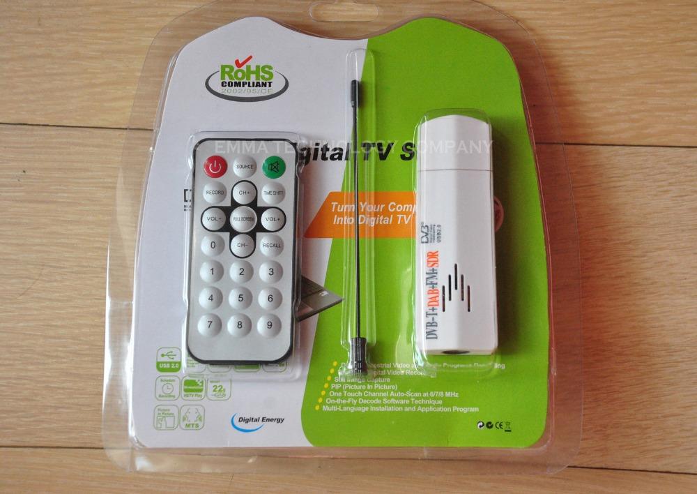 FM+DAB USB DVB-T RTL2832U+FC0013B SDR w/ Antennan TV RADIO Receiver(China (Mainland))