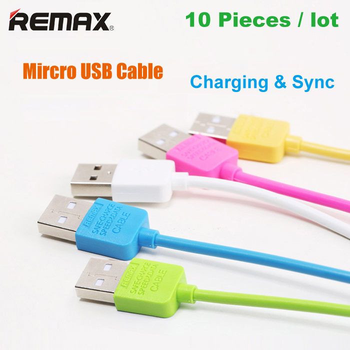 Wholesale 10pcs/lot Original REMAX Micro USB Data Cable for Samsung Charging Cable for LG for HTC With Retail Package(China (Mainland))