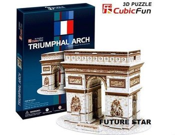 Freeshipping! Triumphal Arch Cubic Fun 3D Jigsaw Puzzle 3D paper model DIY puzzle Educational toys C045H