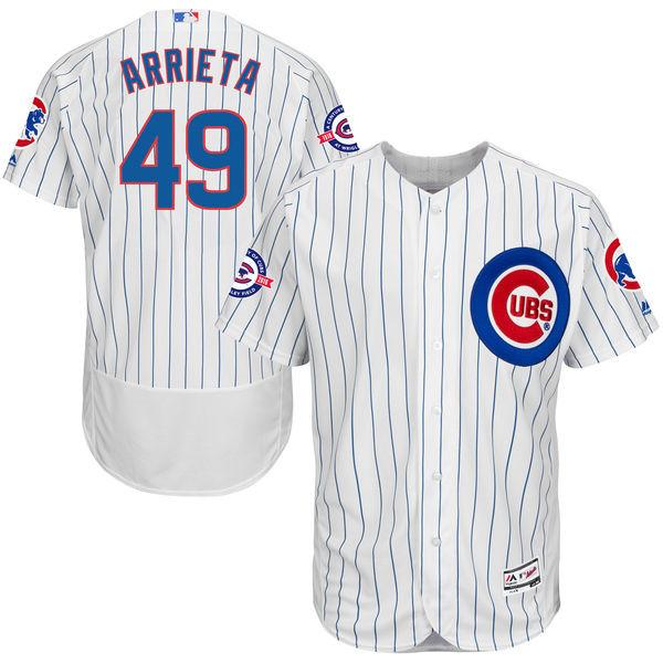 MLB Chicago Cubs Jake Arrieta Men's Game Cool Base Player Jersey Throwback Jerseys Baseball Jerseys(China (Mainland))