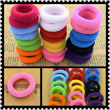 80pcs/bag Quality 30mm Child baby Small Rubber Bands Elastic Ponytail Holders Hair Ring Accessories Girl Rubber Bands Tie Gum(China (Mainland))