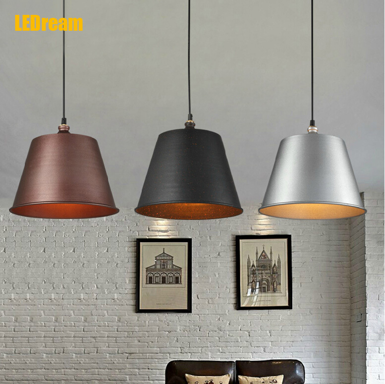 Nordic restaurant lamps and lanterns of study of the sitting room Wrought iron industry wind loft droplight<br><br>Aliexpress
