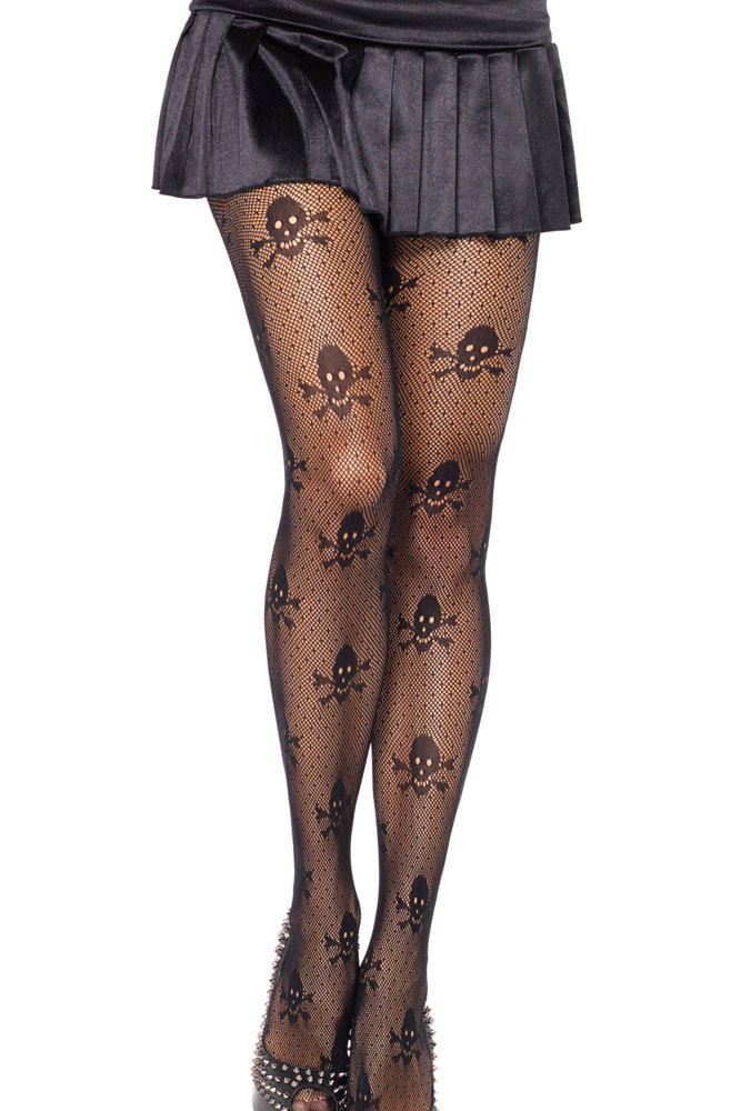 Hot Net Skull Stretch Pantyhose Transparent Socks Women Pantihose Hosiery Womens Lingerie For Men High Quality(China (Mainland))