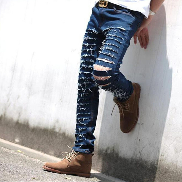 ripped jeans for men online shopping - Jean Yu Beauty