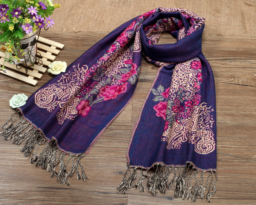 2015 New Winter Retro Nepal Women National Wind Shawl Scarves Thick Double Factory Outlets Scarf S4068(China (Mainland))