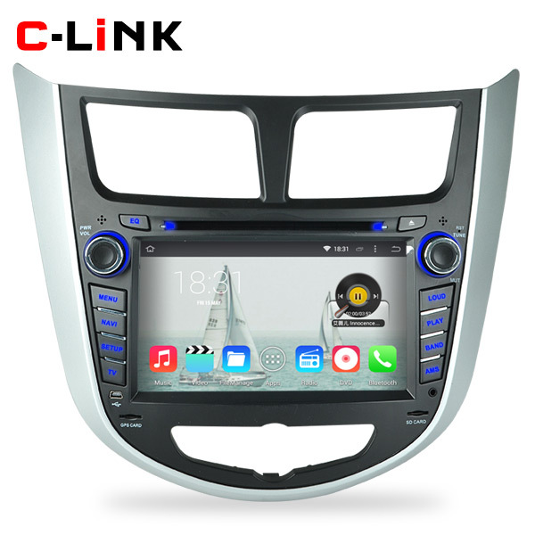 "Quad Core 1.6GHz 7"" HD 1024*600 Android 4.4 Car PC Video Player GPS For Hyundai Verna Accent Solaris 2011-2012 Radio WIFI TV 3G(China (Mainland))"