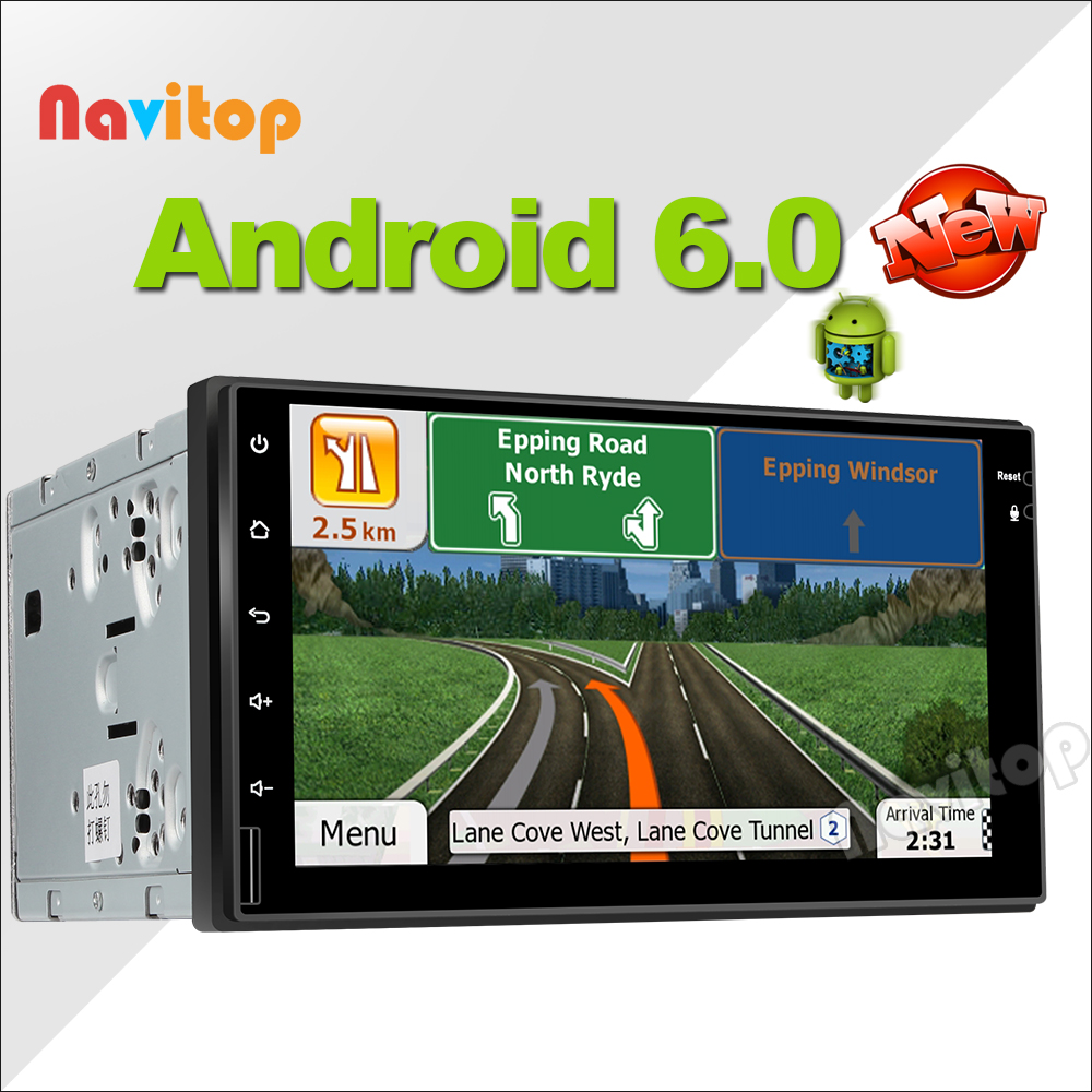 Navitop 2 din android 6.0 universal car dvd player gps xtrail x-trail gps in dash 1024*600 dvd player gps navigation 2 din dvd(China (Mainland))