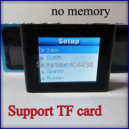 DHL free shipping 6th touch screen mp4 player portable clip mp3 mp4 player support TF /micro sd card 50pcs/lot(China (Mainland))