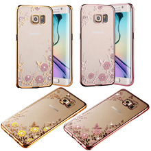 Buy Hot!New Luxury Secret Garden Flowers Rhinestone Cell Phone Cases Samsung S6 S7 edge Plus S5 Note 5 4 3 C5 C7 J3 J3pro Case for $1.90 in AliExpress store