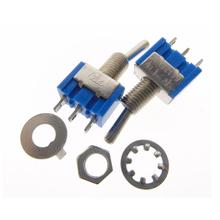 100Pcs Baby Blue Mini MTS-102 3-Pin SPDT ON-ON 6A 125V / 3A 250V AC Miniature Toggle Switches(China (Mainland))