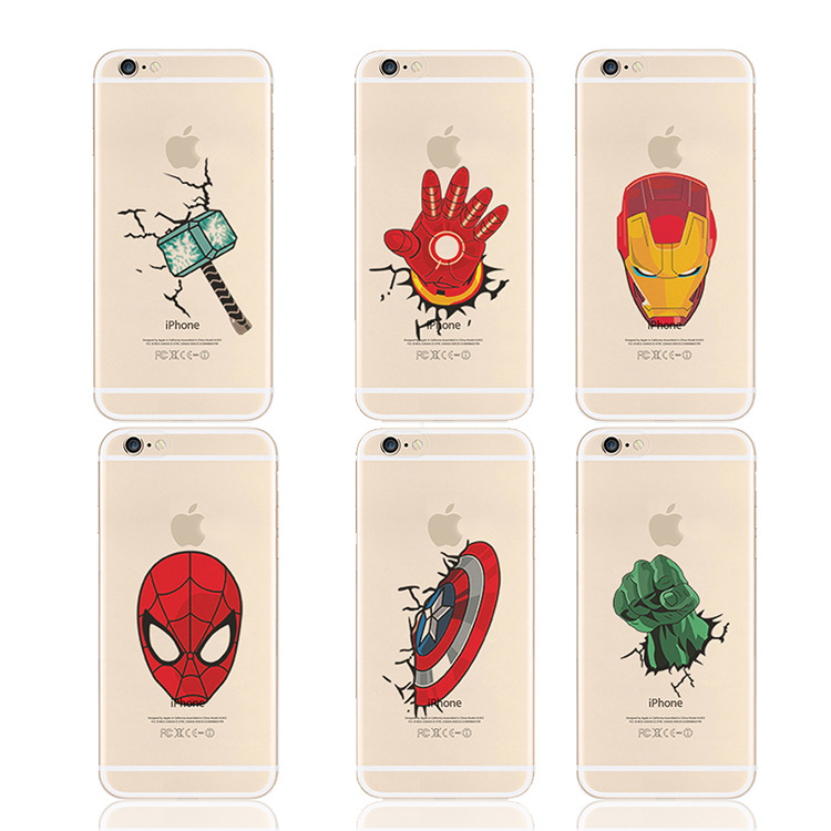 2016 New Popular Marvel Comics Superman Superhero Mobile Phone Case Cover for iPhone 6 6S 5 5s Deadpool Batman Fundas Capa para(China (Mainland))
