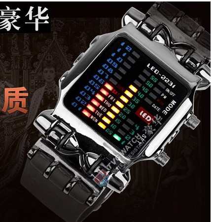 Relogio Masculino Hot sale Band LED Digital Binary Men Sport Watch Fashion Men's Military Watches Relojes Hombre(China (Mainland))