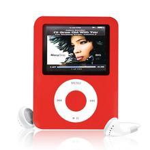 Factory Price USB Digital MP3 MP4 Player Slim 8GB 1.8 inch LCD Media Video Game Movie Radio FM 3th Generation MP4 Player Mmay19(China (Mainland))